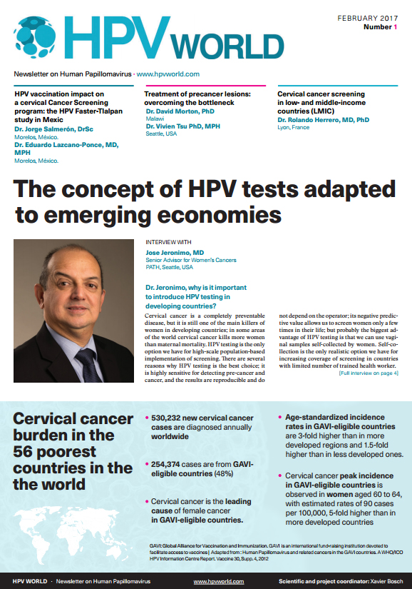 The concept of HPV tests adapted to emerging economies
