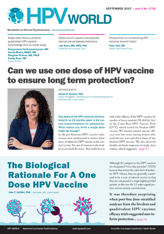 Can we use one dose of HPV vaccine to ensure long term protection?